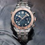 Omega Seamaster Diver 300M Chronograph bộ vỏ titanium: Tuyệt phẩm lặn biển đỉnh cao