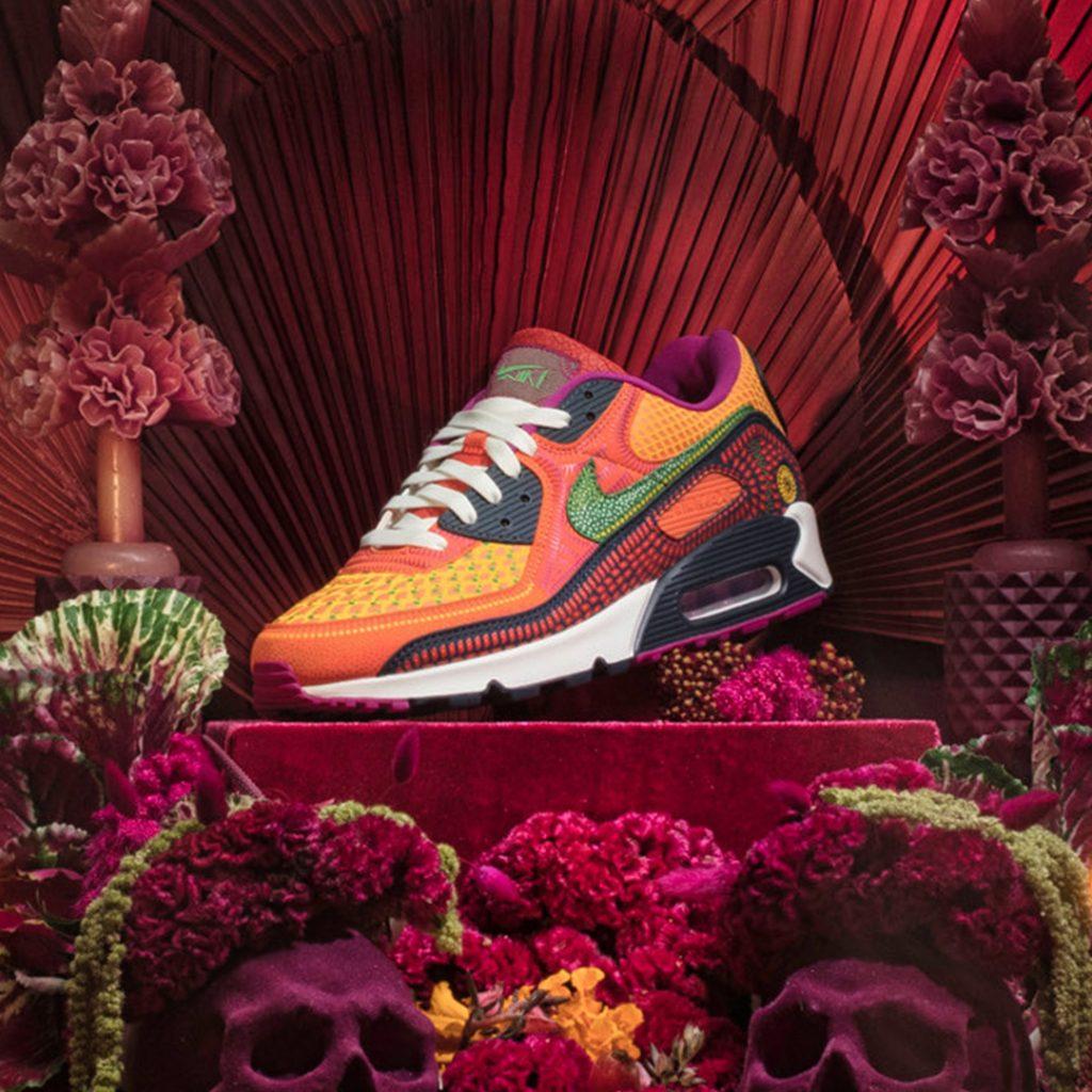 """Nike Tiết lộ 04 mẫu giày """"Dia de Muertos"""" Air Max 90"""