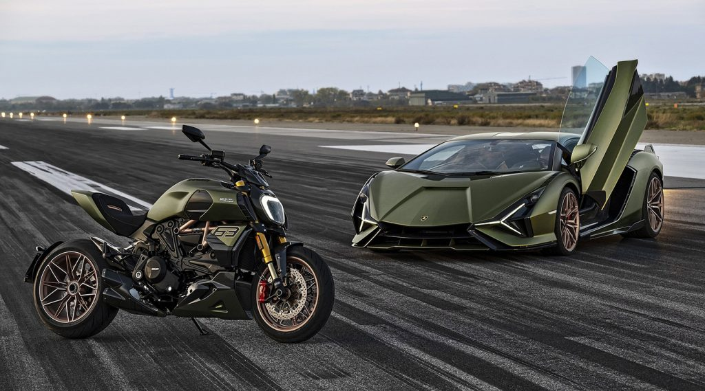 OMG!!! Đây chính là cỗ xe siêu phẩm của Lamborghini và Ducati