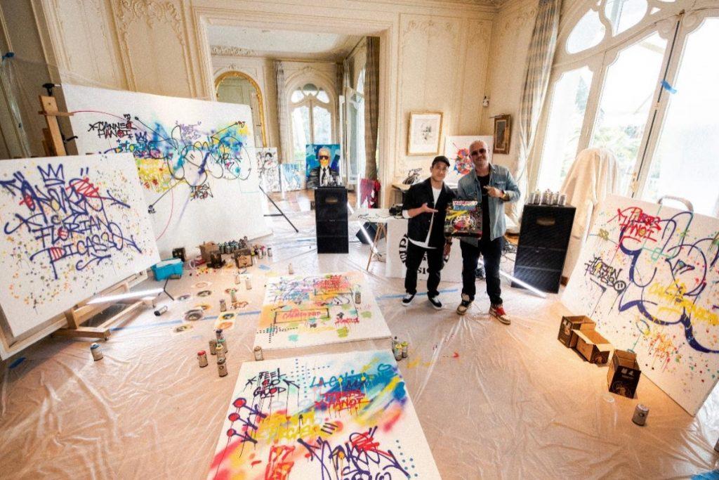"""""""Bữa tiệc nghệ thuật"""" kết hợp giữa 2 nghệ sĩ gốc Việt: Cyril Kongo và Florian Picasso"""