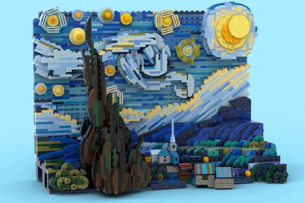 Bức họa The Starry Night đã có bản LEGO với 1552 chi tiết