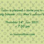 [LIVESTREAM] Đón xem buổi trình diễn Louis Vuitton Men Xuân Hè 2022