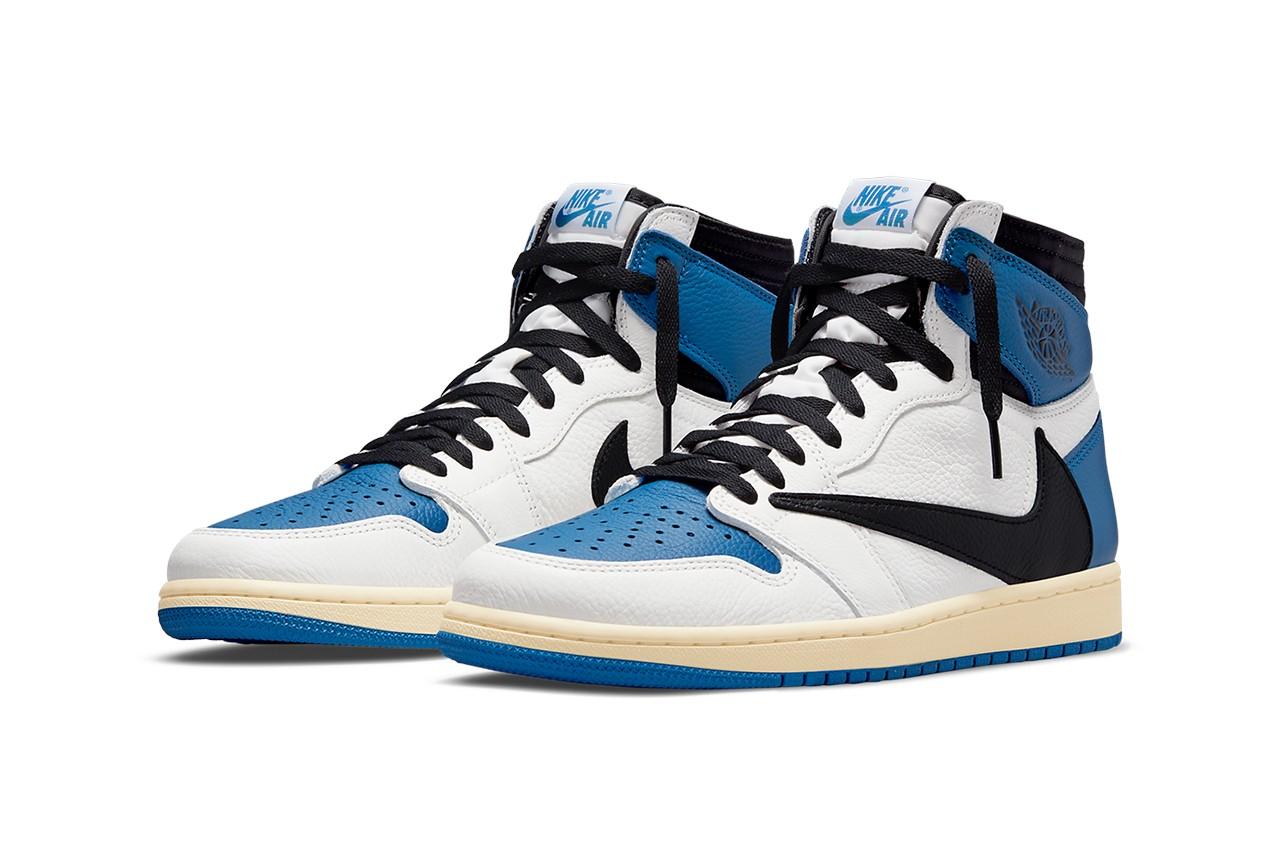 "Travis Scott x fragment design x Air Jordan 1 High ""Military Blue"""
